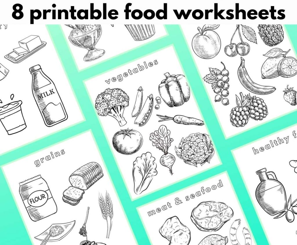 8 Food Coloring Pages By Category Literacy Learn